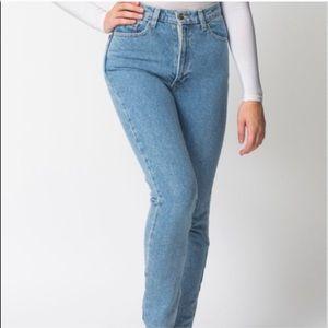 American Apparel High Waisted Jeans Sz 27